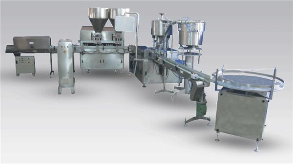Makinë automatike për mbushjen e shisheve të birrës me lëng për linjën e prodhimit dhe etiketimin