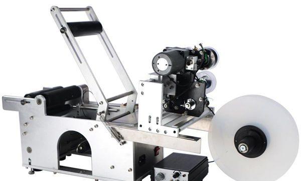 Makinë për etiketimin e shisheve gjysmë-automatike