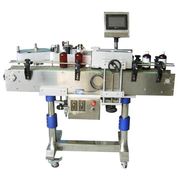 Makinë për etiketimin e shisheve të rrumbullakëta automatike për kanaçe