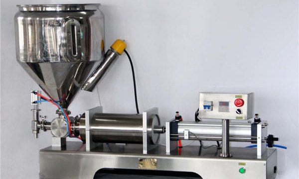 Makinë për mbushjen e salcave manuale për kanaçe