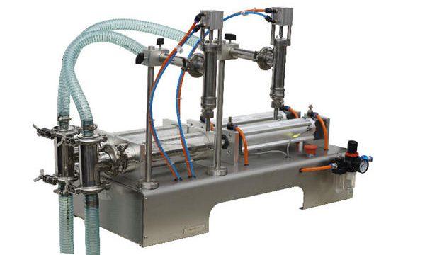 Makinë për mbushjen e sapunëve të lëngshëm me gjysëm automatik të qepës